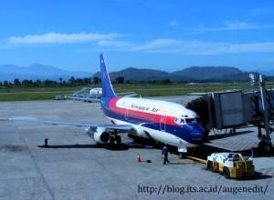 Pesawat di apron terminal Hasanudin-Makassar