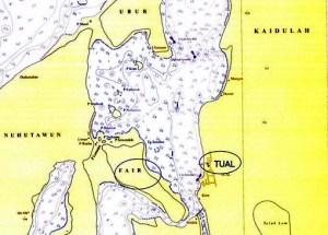 Peta kepulauan Kei
